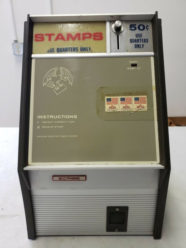 Vintage SCRIBE Electric Stamp Vending Machine
