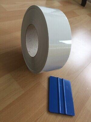 1 Rolle Lackschutzfolie Transparent Selbstklebend B 6 cm, L 50 Meter.Neu.Schutzf