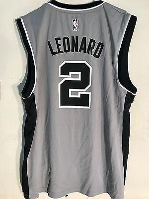 Adidas NBA Jersey San Antonio Spurs Kawhi Leonard Grey sz - Nba San Antonio Spurs