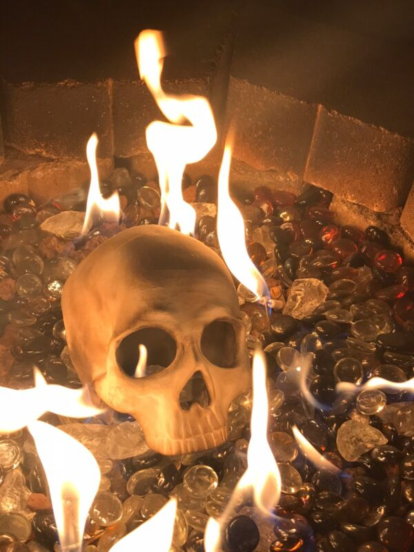 Fire pit skull, Gas Or Wood Rated...