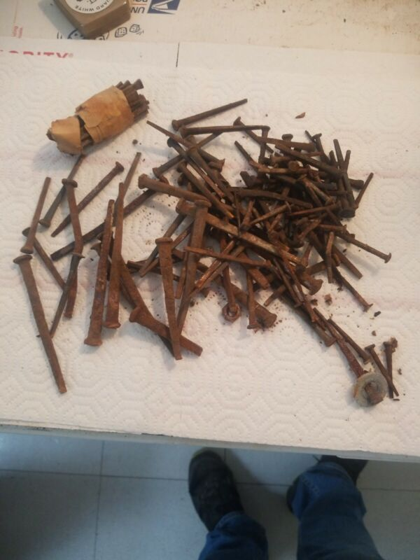 Large Lot Antique Square Nails Good Old Ones