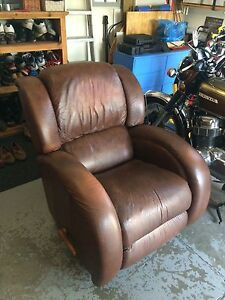 Brown leather lazboy recliner