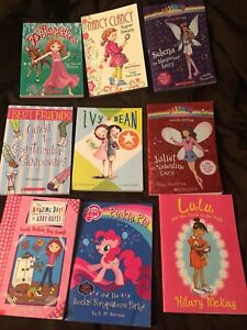 Set of 9 girls chapter books.  Excellent condition.  $10
