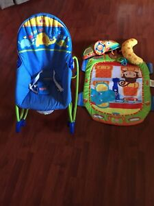 Fisher Price Infant to Toddler chair/rocker and play mat $20.00