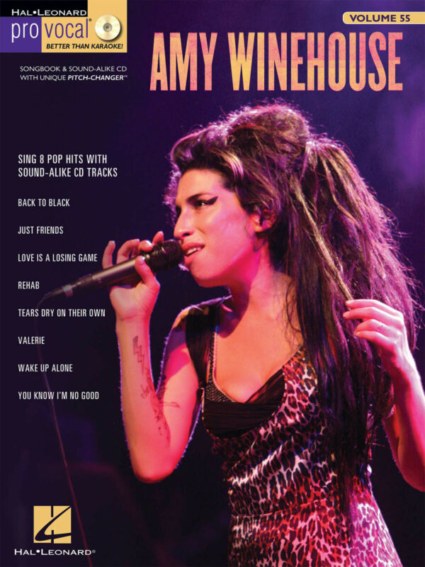 Amy Winehouse Pro Vocal Women Vol 55 Sheet Music Songs Sing-Along Book CD