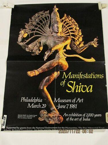 Vintage  Manifestations of Shiva Poster 1981