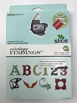 New Making Memories Slice Design Card Vintage Findings 33066 Scrapbooking Cards - Making Memories Vintage Findings
