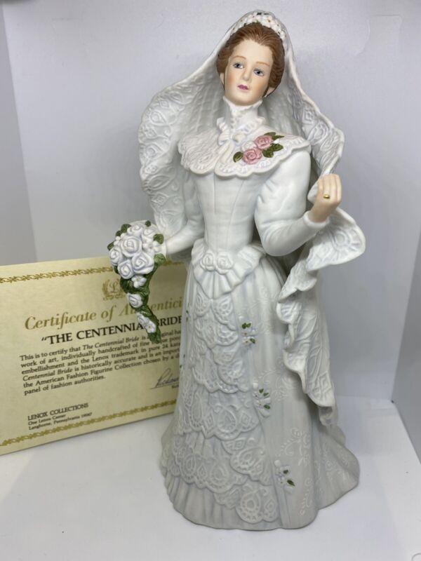 Vintage Lenox The Centennial Bride Fine Porcelain Sculpture Figurine 1987 MINT