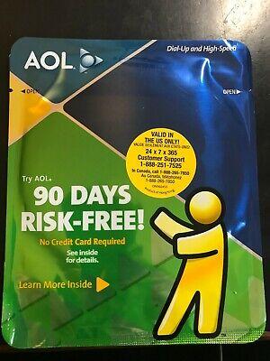 Vintage AOL America Online CD Disc Disk 90 days free trial FOIL SEALED 2005
