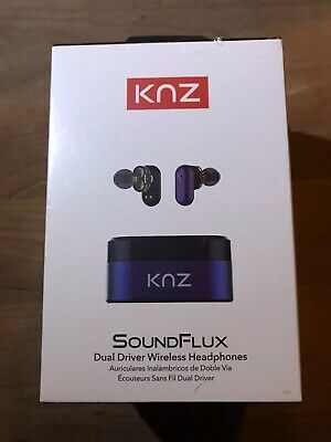 *New*Best Headphones! 60 Ft! KNZ Soundflux Dual-Driver Wireless Stereo
