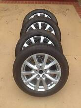 "17"" Mazda 3 Mag Wheels and Tyres, As New! (5x114.3) Carina Heights Brisbane South East Preview"