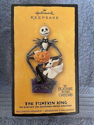 2008 Hallmark Halloween THE PUMPKIN KING Nightmare Before Christmas Ornament