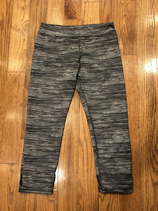 Champion Leggings Grey/Black/White           Girls Size XL (14-16)