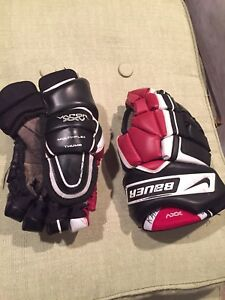 Bauer XXV junior gloves 12 inches