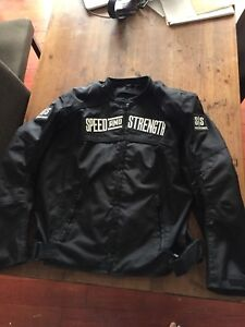SPEED AND STRENGTH BLACK MENS MOTORCYCLE JACKET LARGE
