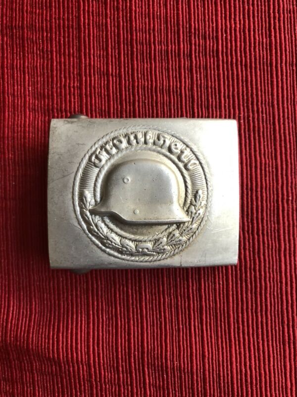Interesting Helmet Belt Buckle Mint Marked