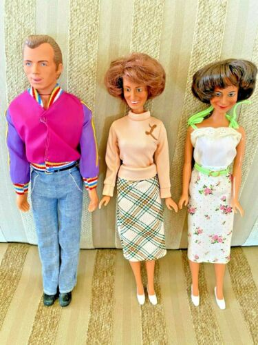 Laverne + Shirley TV Show Celebrity Mego 3 Dolls + Clothes and shoes + Lenny