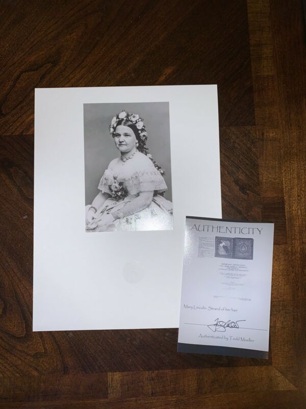 MARY TODD LINCOLN 3//4 SEATED PORTRAIT 11x14 SILVER HALIDE PHOTO PRINT