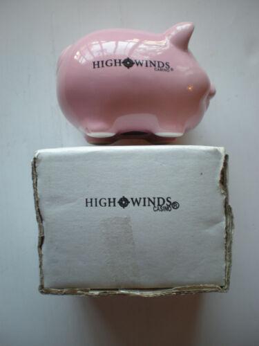 Piggy Bank Ceramic Penny Saver High Winds Casino Advertisment Money Keeper