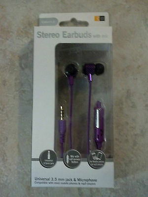 New Purple Case Logic Earbuds with Microphone