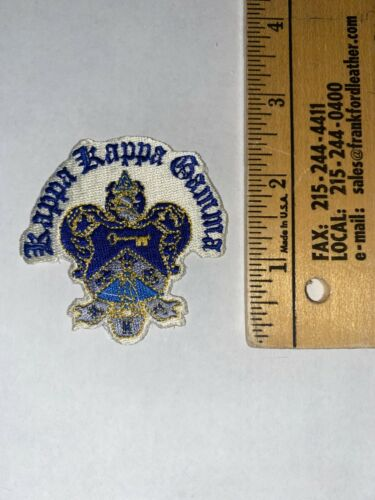 """Kappa Kappa Gamma 3"""" Embroidered Shield Crest Patch with Words VINTAGE RARE"""