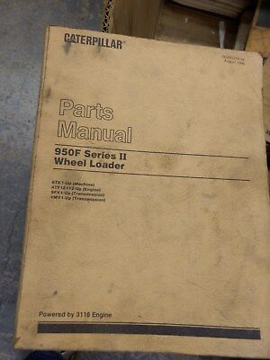 Caterpillar Cat 950f Series Ii Wheel Loader Parts Manual  Sebp2218-04