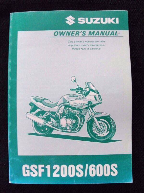1996 1997 SUZUKI 600 1200 GSF600S GSF1200F MOTORCYCLE OWNER