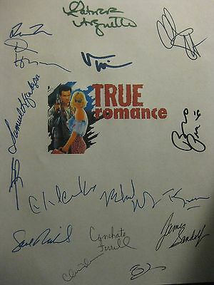 True Romance Signed Movie Film Script X16 Brad Pitt Christian Slater Arquette rp