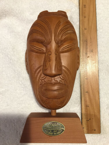 Mauri mask made of Ancient Kauri wood.