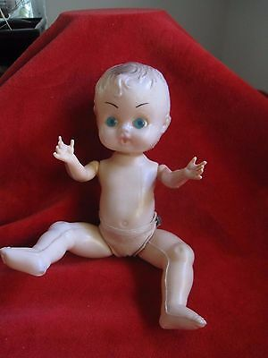 Vintage Plastic doll Made in Hong Kong