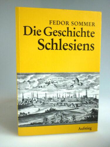 Fedor Sommer Die Geschichte Schlesiens,Reprint