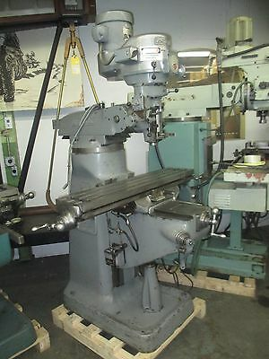 Bridgeport 1-12 Hp Br2j Variable Speed Vertical Turret Milling Machine Pwr Fd