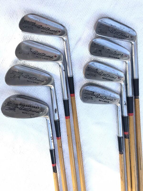 Vintage Spalding Robert T Jones Pyratone Shafts Irons 2-9