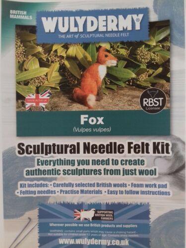Fox Needle Felt Kit British Wool