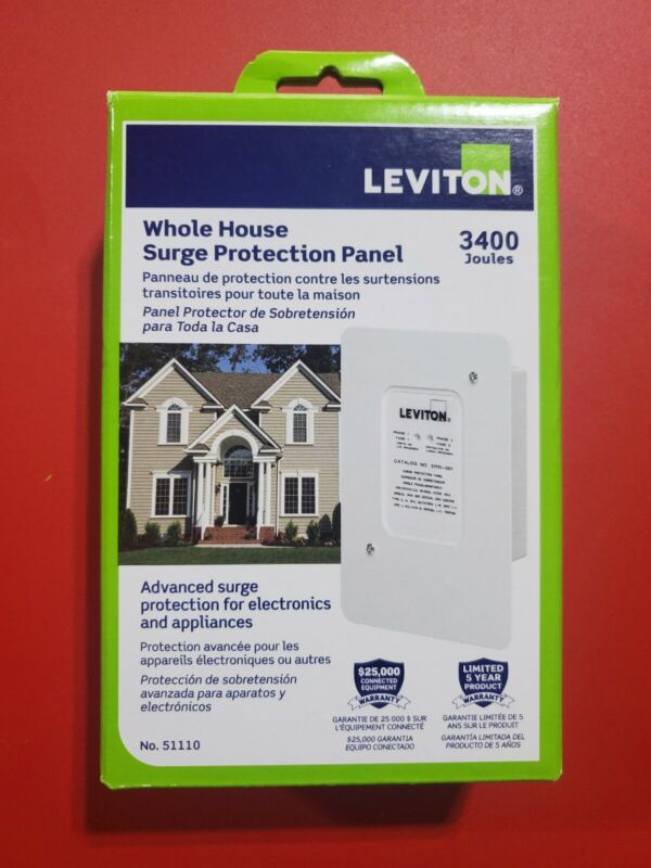 Leviton 51110 120-Volt Residential Whole House Surge Protector 3400 joules