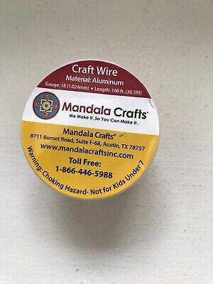Mandala Crafts. Wire Aluminum 1 Roll 18 Gauge.FREE SHIPPING](Mandala Crafts)