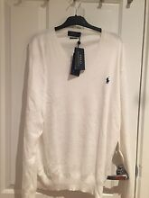 RAlph Lauren Jumper V Neck White Size XL Strathfield Strathfield Area Preview