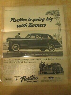 1941 Pontiac De Luxe Torpedo $828 Six 2 Door Sedan Vintage Newspaper Ad/Articles
