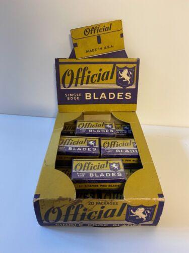 "Vintage ""Official"" Razor Blades; NOS Unused; Single Edge; Plus Box"