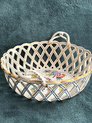 Queen Victoria HEREND Fruit Basket / Bowl