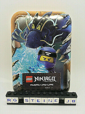 Lego Ninjago Serie 4 Trading Card Game Tin Box Dose gold gelb Jay Cards leer NEU ()