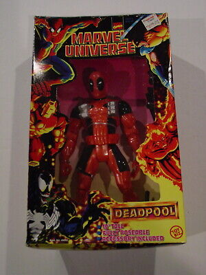"DEADPOOL ToyBiz Marvel Universe Deluxe Poseable 10"" Figure, 1997 NEW Sealed"