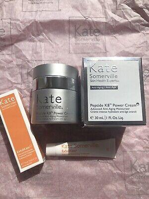 Kate Somerville Peptide K8 Moisturiser Full Size Brand New £127 and Exfolikate