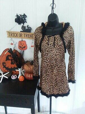 Cheetah Print Women's Halloween  Costume Dress Hoodie Large L