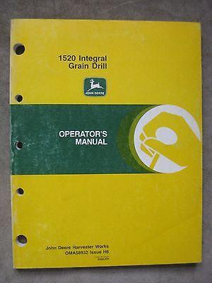 John Deere 1520 Integral Grain Drill Operators Manual Jdh6