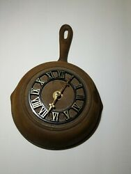 Vintage Cast Iron Frying Pan Skillet Kitchen Wall Clock