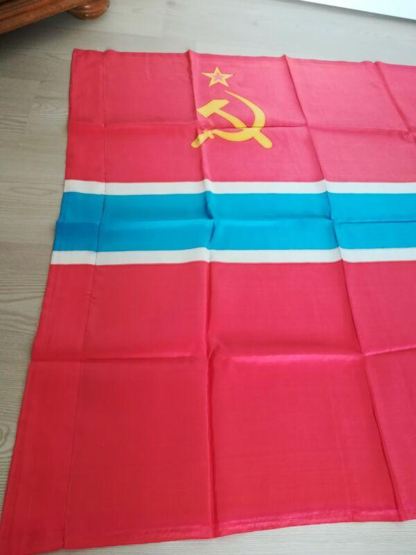 Original Vintage Flag of Uzbekistan Uzbekistanian Soviet Socialist Republic USSR