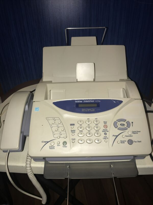 Brother IntelliFax 1270e Fax Machine. Tested And Work Well.