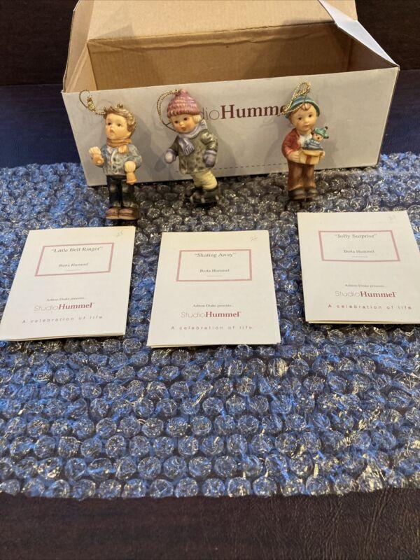 Berta Hummel Studio Hummel Ornaments - Set #9 (96038) w/COAs!!