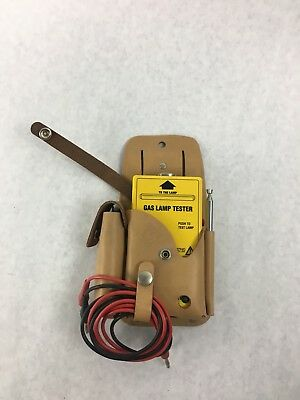 Greenlee Gas Lamp Tester With Probes Leather Pouch 5715